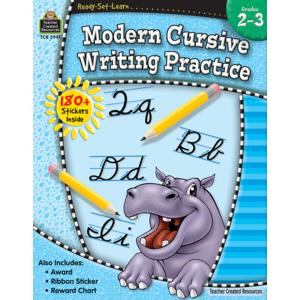 TCR5941 Ready-Set-Learn: Modern Cursive Writing Practice Grade 2-3 Image
