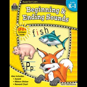 TCR5952 Ready-Set-Learn: Beginning & Ending Sounds Grade K-1 Image