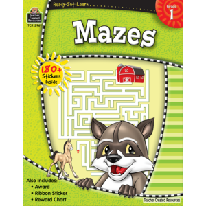 TCR5961 Ready-Set-Learn: Mazes Grade 1 Image