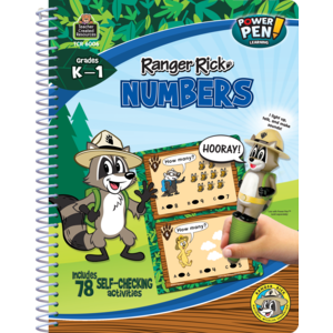 TCR6006 Ranger Rick Power Pen Learning Book: Numbers Image