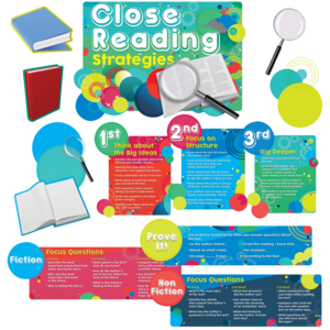 TCR60237 Close Reading Strategies Bulletin Board Display Set Image