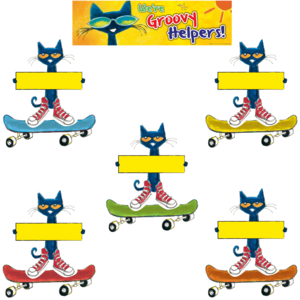 TCR60348 Pete the Cat Groovy Classroom Jobs Mini Bulletin Board Image