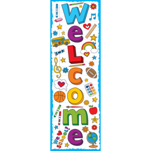 TCR60361 School Doodles Welcome Banner Image