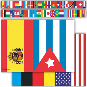 TCR60595 International Flags Straight Border Trim Image