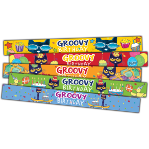 TCR62007 Pete the Cat Groovy Birthday Slap Bracelets Image