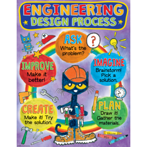 TCR62009 Pete the Cat Engineering Design Process Chart Image