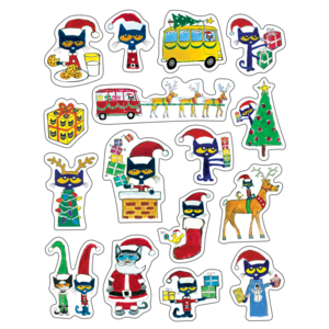 TCR62023 Pete the Cat Christmas Stickers Image