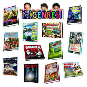 TCR62292 Literary Genres Bulletin Board Display Set Image