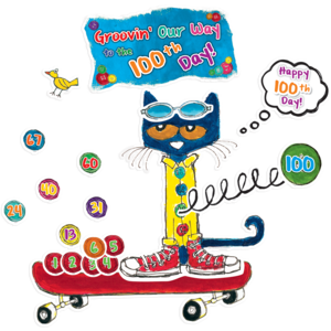 TCR62384 Pete the Cat 100 Groovy Days of School Bulletin Board Image