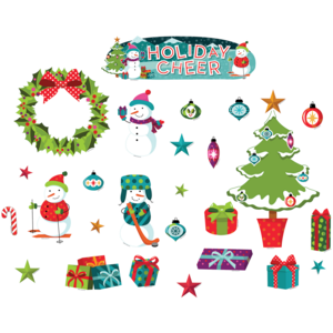 TCR62394 Holiday Cheer Mini Bulletin Board Image