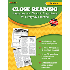 TCR62561 Close Reading Practice Book Grade 3 Image