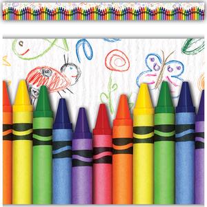 TCR63269 Crayons Straight Border Trim Image