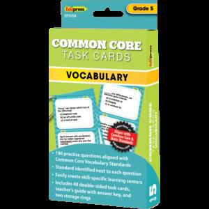 Common Core Vocabulary Task Cards Grade 5 Tcr63358