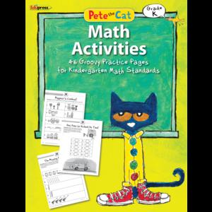 TCR63512 Pete the Cat Math Workbook Grade K Image