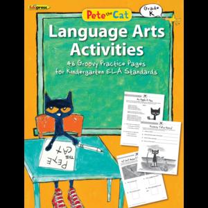 TCR63513 Pete the Cat Language Arts Activities Grade K Image