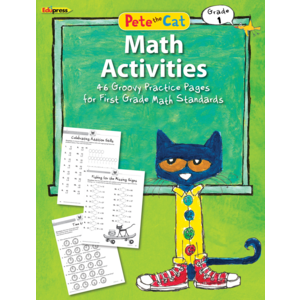 TCR63514 Pete the Cat Math Workbook Grade 1 Image