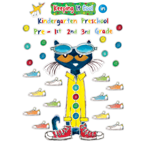 TCR63922 Pete the Cat Keeping it Cool In....Bulletin Board Image