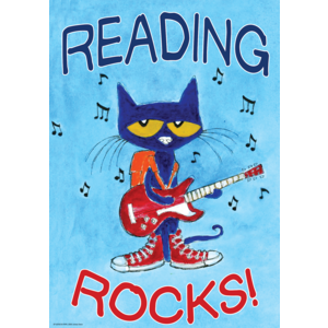 TCR63930 Pete the Cat Reading Rocks Positive Poster Image