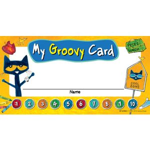 TCR63942 Pete the Cat My Groovy Punch Cards Image