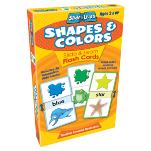 TCR6556 Shapes & Colors Slide & Learn Flash Cards Image