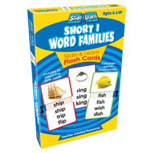 TCR6560 Short I Word Families Slide & Learn Flash Cards Image