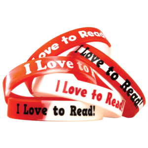 TCR6566 Fancy I Love to Read Wristbands Image