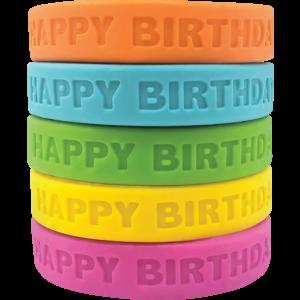 TCR6574 Happy Birthday 2 Wristbands Image
