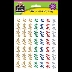 TCR6634 Assorted Sparkle Stars Stickers Valu-Pak Image