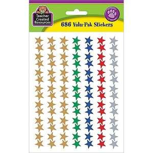 TCR6644 Assorted Foil Stars Stickers Valu-Pak Image