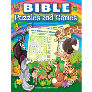TCR7047 Bible Puzzles and Games Image