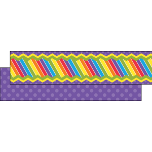 TCR73255 Multicolor Stripe Ribbon Runner Image