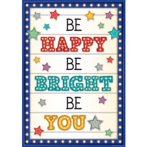 TCR7410 Be Happy. Be Bright, Be You Positive Poster Image
