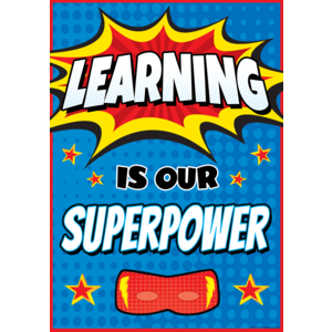 TCR7419 Learning Is Our Superpower Positive Poster Image