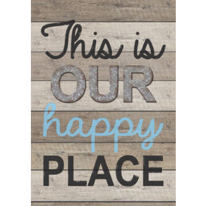 TCR7427 This Is Our Happy Place Positive Poster Image
