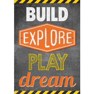 TCR7433 Build, Explore, Play, Dream Positive Poster Image