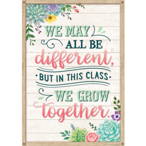 TCR7442 We May All Be Different, but in This Class We Grow Together Positive Poster Image