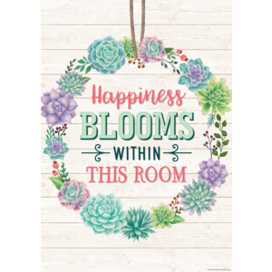 TCR7443 Happiness Blooms Within This Room Positive Poster Image