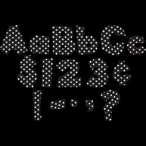 "TCR75140 Black/White Dot 4"" Fun Font Letters Image"