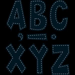 "TCR75180 Black Stitch 7"" Fun Font Letters Image"