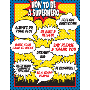 TCR7550 How To Be a Superhero Chart Image