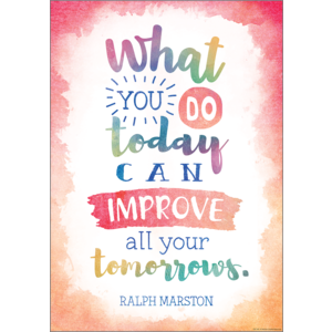 TCR7557 What You Do Today Can Improve All Your Tomorrows Positive Poster Image