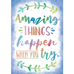 TCR7559 Amazing Things Happen When You Try Positive Poster Image