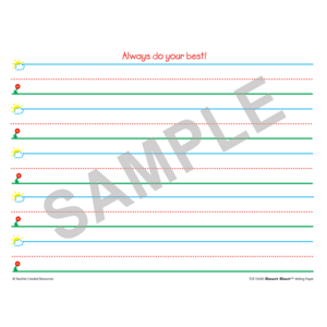 TCR76500 Smart Start K-1 Writing Paper: 40 Sheet Tablet Image