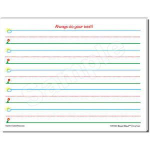 TCR76501 Smart Start K-1 Writing Paper: 100 Sheets Image