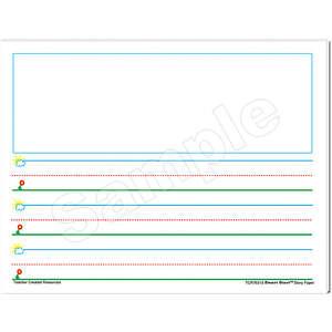 TCR76510 Smart Start K-1 Story Paper: 40 Sheet Tablet Image
