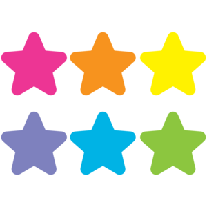"TCR77002 Spot On Bright Stars Carpet Markers - 7"" Image"