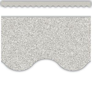 TCR77017 Silver Glitz Scalloped Border Trim Image