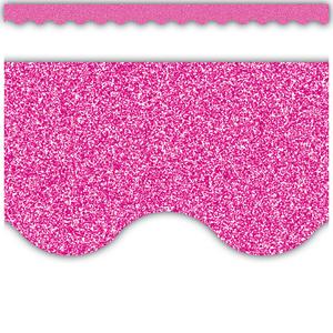 TCR77021 Pink Glitz Scalloped Border Trim Image