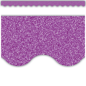 TCR77022 Purple Glitz Scalloped Border Trim Image