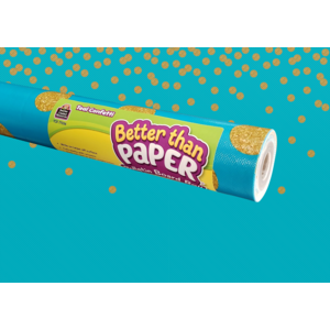TCR77036 Teal Confetti Better Than Paper Bulletin Board Roll Image